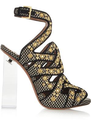 eedc0d609eb1 Jimmy Choo Keane metallic elaphe and rope gladiator sandals - SHEfinds