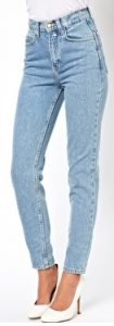 American Apparel Short Leg High Waist Jean