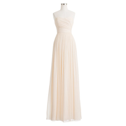 Arabelle Long Dress In Silk Chiffon