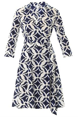 Diane Von Furstenberg's Patrice Printed Cotton Wrap Dress