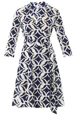 Diane Von Furstenberg's Patrice Printed Cotton Wrap Dress