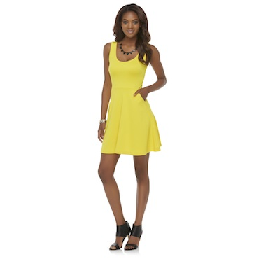 Sears | Kardashian Kollection Women's Textured Fit & Flare Dress