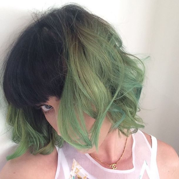 Katy Perry Slime Green Hair