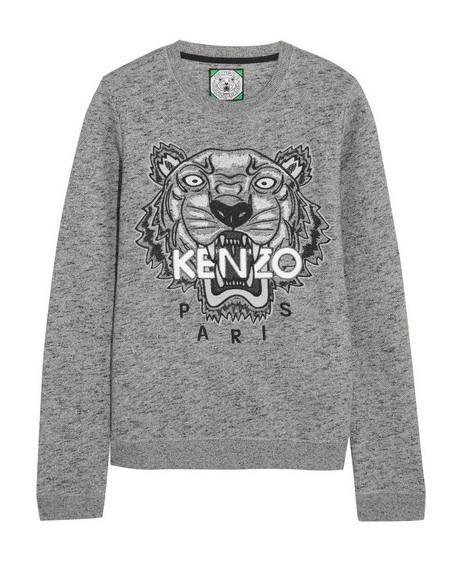 Kenzo Tiger Embroidered Cotton Sweatshirt