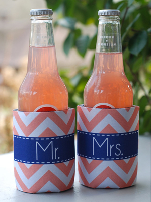 Personalized koozies.