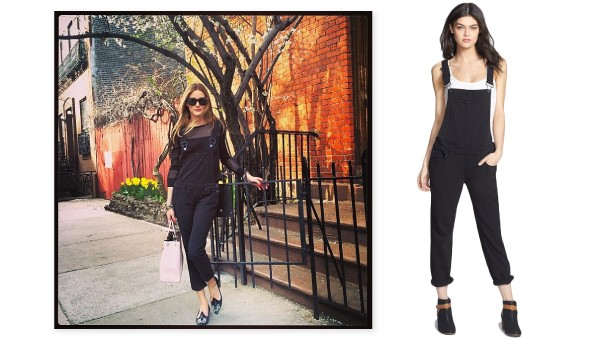 Olivia P Overalls 598x340 With Just One Instagram Post, Olivia Palermo Put Overalls Back On Our Radar