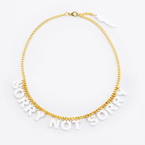 Petite Sorry Not Sorry Necklace