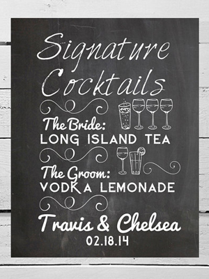 Creative signature cocktails.