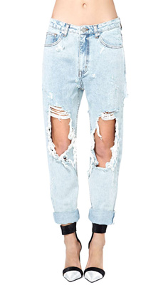 multiple colors best authentic good looking Hole in One Boyfriend Jeans - SHEfinds