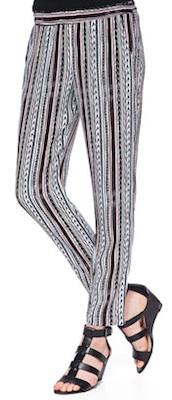 Ella Moss Bondi Sequoia Print Striped Pants