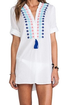 670f365b0610b WILDFOX Exclusive Pineapple Pina Colada Tulum Swim Cover Up Tunic