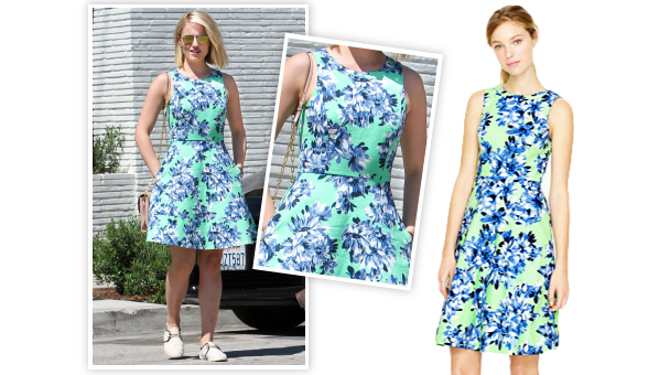 Dianna Agron S 168 J Crew Dress Is The Ultimate Morning Pick Me Up