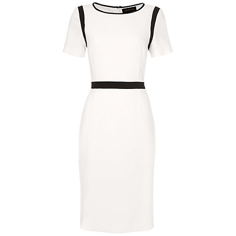 Jaeger Contrast Waist Crepe Dress