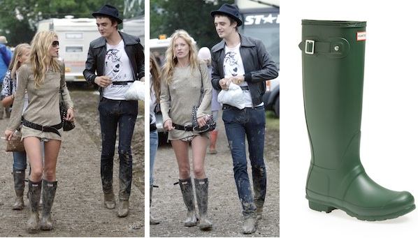 8493898ba91 Kate Moss Hunter Boots Glastonbury 2005 - SHEfinds