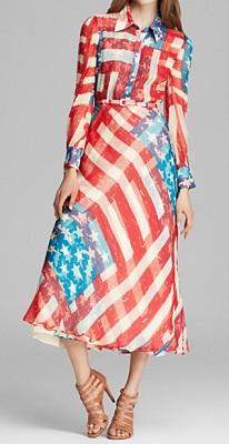 catherine malandrino flag print dress