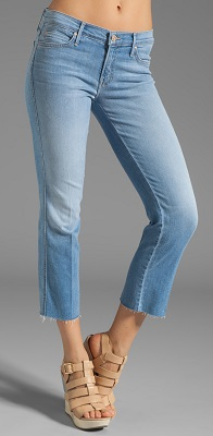 mother looker fray jeans