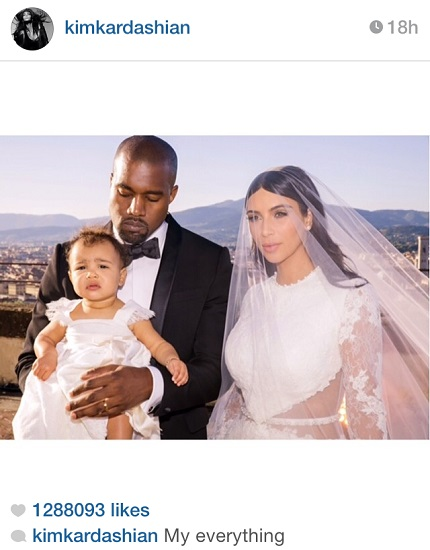 north west at kim kardashian wedding