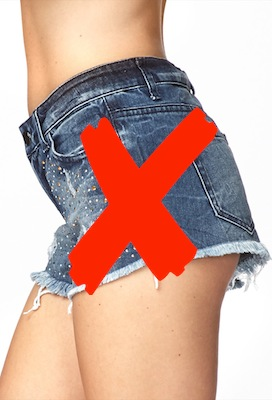how to cut your thighs with a razor
