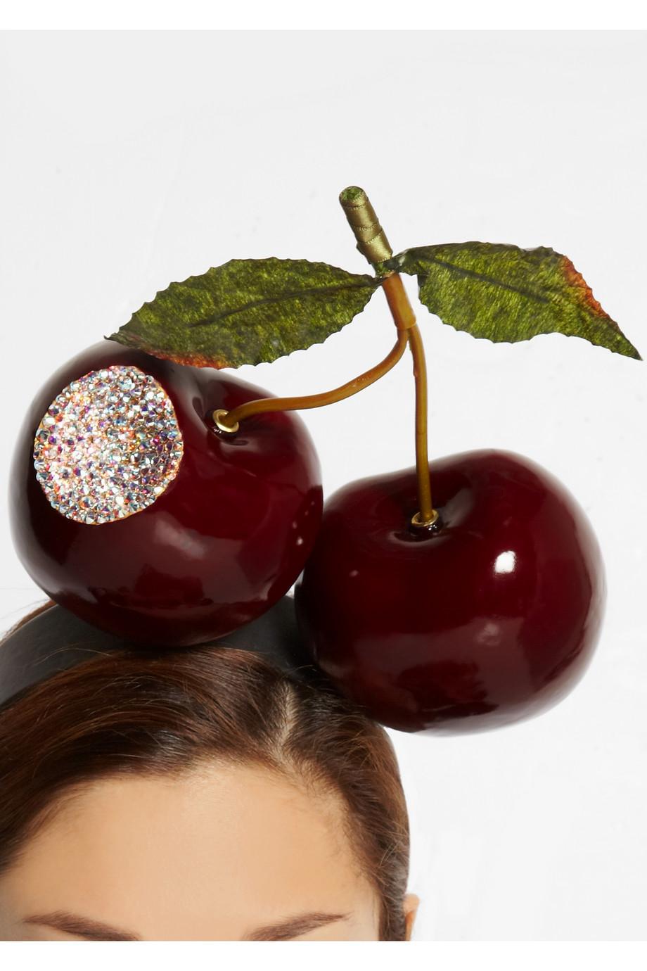Bitten Cherries Crustal Embellished Headband