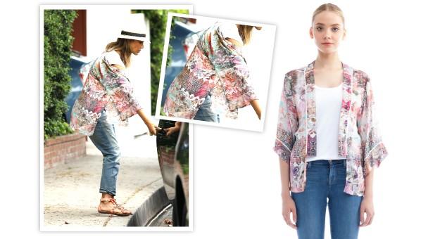 how to wear kimono wrap