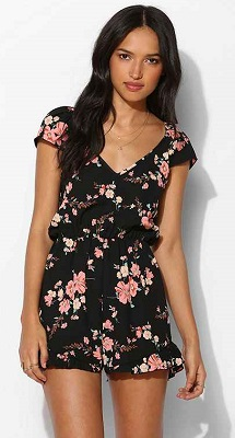 pins and needles floral print romper