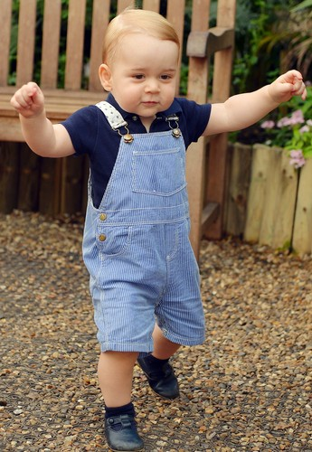 prince george birthday photo