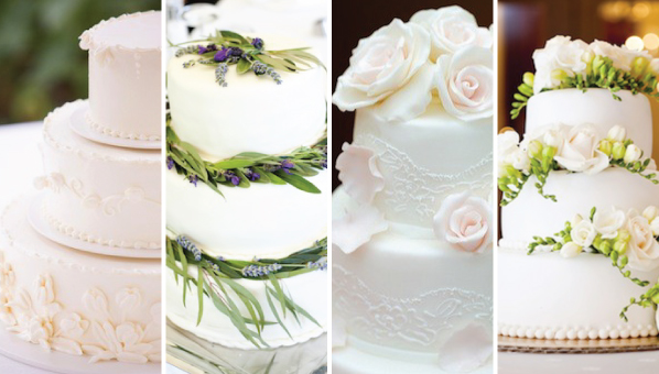Best Simple Wedding Cakes | Pretty White Wedding Cakes