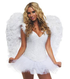Angel Wings Costume Accessory ($50.77)  sc 1 st  SHEfinds & Bunny Black Adult Costume