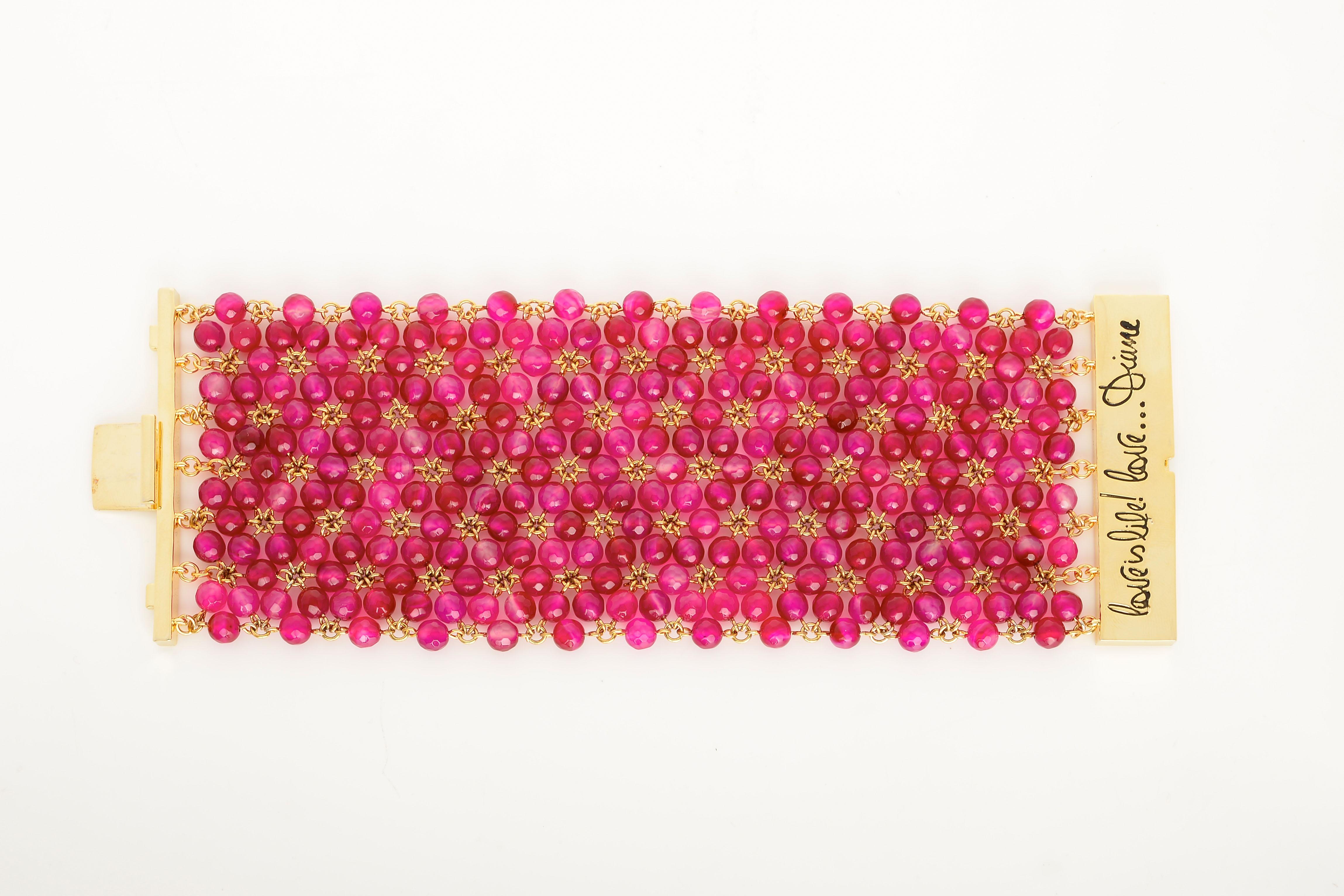 DVF- Honey Bracelet in Beet