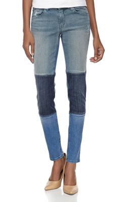 f45deae0b04 Fade to Blue Tri-Color Patchwork Slim-Fit Jeans, Medium Blue ($83.30). Hudson  Jeans 'Elle' Baby Bootcut ...