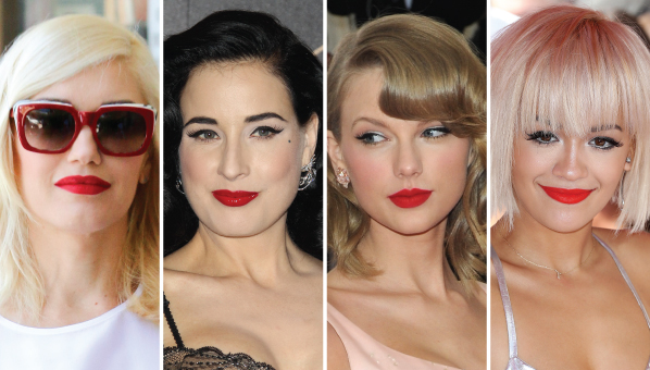 30 Most Iconic Red Lip Looks of All Time - Celebrity Red ...