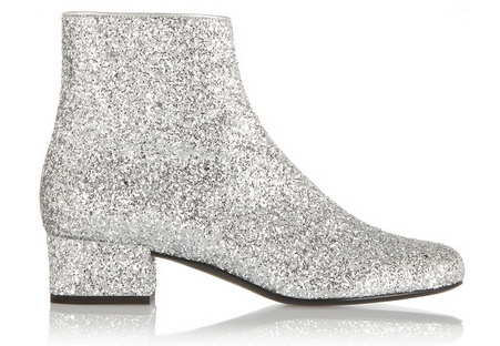 Saint Laurent glitter bootie