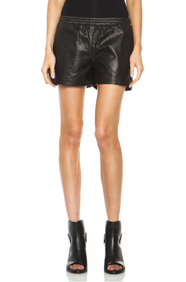 Vince Boxer Leather Shorts