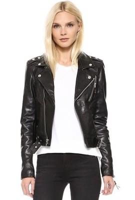 blk leather jacket