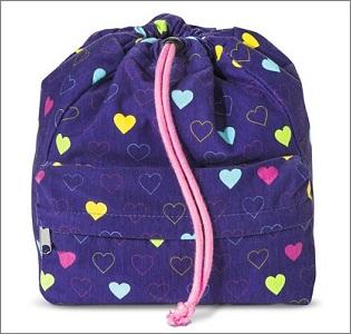 heart drawstring bag