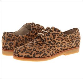 leopard brogues