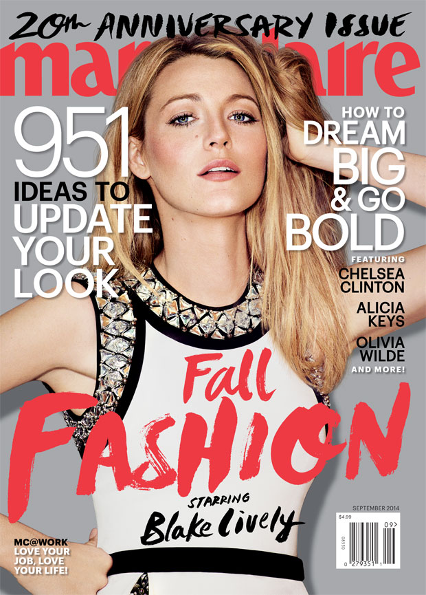 Blake Lively Marie Claire September 2014 Cover