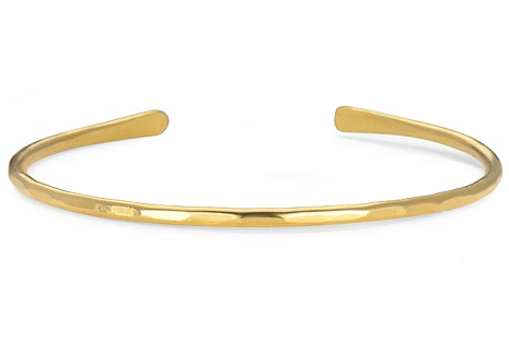 phyllis rose yellow gold cuff