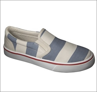 striped slip ons