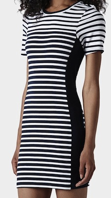 topshop stripe bodycon dress