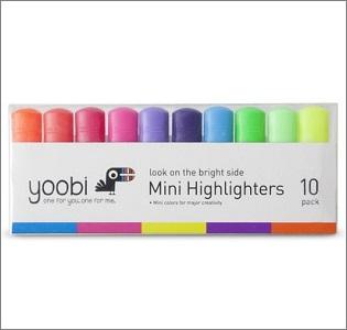 yoobi mini highlighters