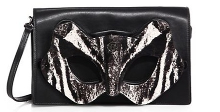 Elena Ghisellini Leather & Calf Hair Pochette Kat