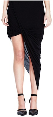 Helmut Lang Kinetic Jersey Asymmetrical Skirt