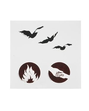 Neca divergent tris tattoos temporary tattoo set shefinds for Divergent tattoo tris