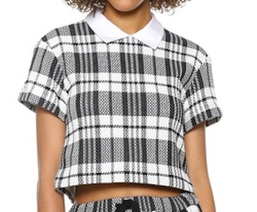 Sea Collared Crop Top
