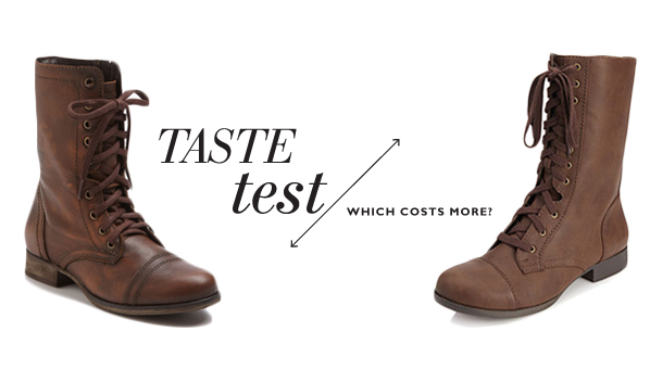 805024f9a60 Steve Madden Troopa Boot | Faux Leather Lace Up Booties - SHEfinds