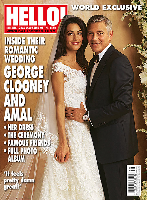 George Clooney Amal Alamuddin Hello Cover