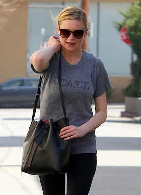 Kirsten Dunst seen out and about after a workout at the gym