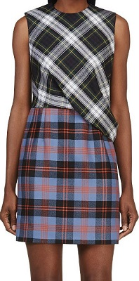 mcq plaid dress