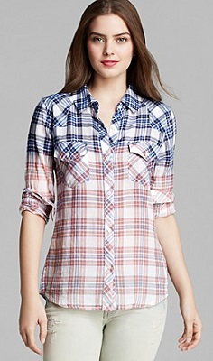 rails mixed plaid shirt